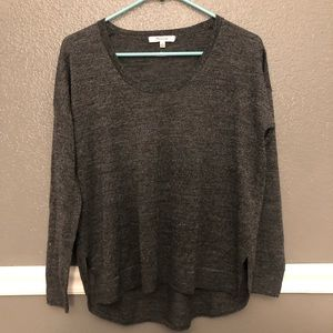 Madewell | charcoal gray sweater top